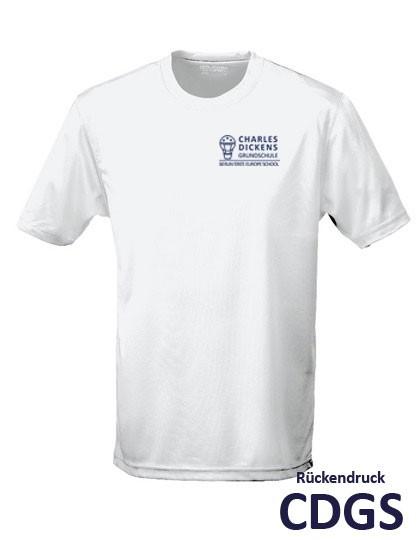 Funktions-T-Shirt - Kinder - unisex (Gr. 116 - 152) - 100% Polyester (weiß)