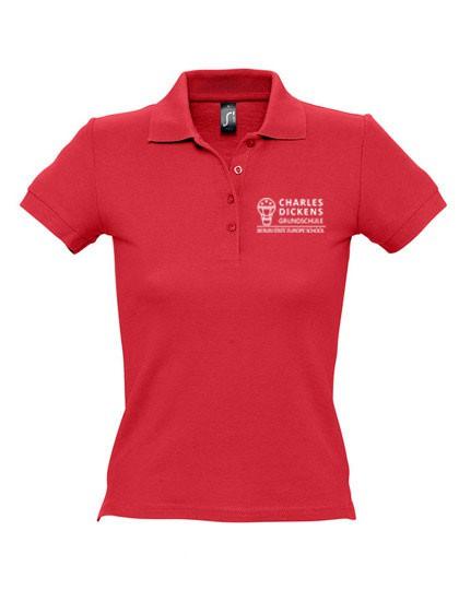 Poloshirt DAMEN (Gr. S - XXL) - 100%BW (navy, white, sky blue, red)